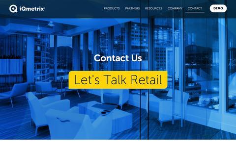 Screenshot of Contact Page iqmetrix.com - Contact Us | iQmetrix - captured Jan. 9, 2016