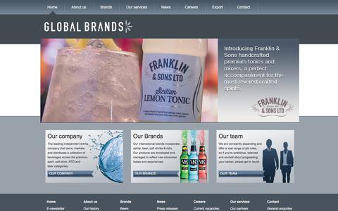 Screenshot of Home Page globalbrands.co.uk - Innovative drinks brand development | Premium Spirits, Beer, Energy drinks | GlobalBrands.co.uk | GlobalBrands.co.uk - captured Aug. 7, 2017