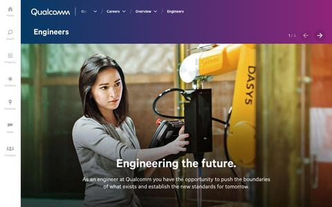 Screenshot of Jobs Page qualcomm.com - Careers for Engineers | Qualcomm - captured April 9, 2018