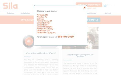 Screenshot of Blog sila.com - Blog - Sila Heating & Air Conditioning - captured Nov. 2, 2018