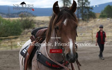 Screenshot of Home Page nickerssaddlery.com - Nickers Saddlery Ltd. Webshop - captured Nov. 29, 2017