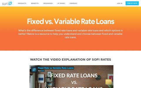 Fixed vs. Variable Rate Loans   SoFi