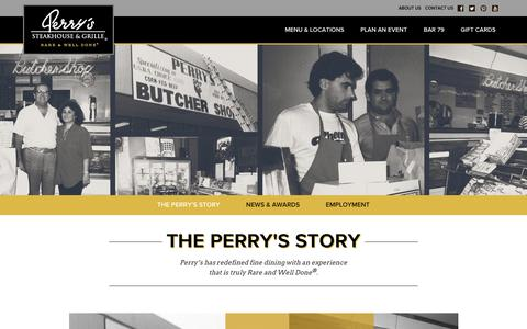 Screenshot of About Page perryssteakhouse.com - About Us - Perry's Steakhouse & Grille - captured June 29, 2017