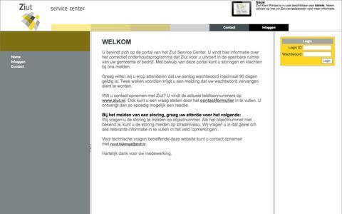 Screenshot of Login Page ziut.nl - Ziut - Klantenportaal - captured Oct. 26, 2014