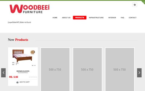 Screenshot of Products Page woodbeei.com - Commerce Page | Woodbeei – Furnitures - captured Oct. 31, 2014