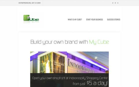 Screenshot of Home Page mycubeshop.com.au - My Cube - Build your own brand with My Cube - captured Oct. 24, 2017
