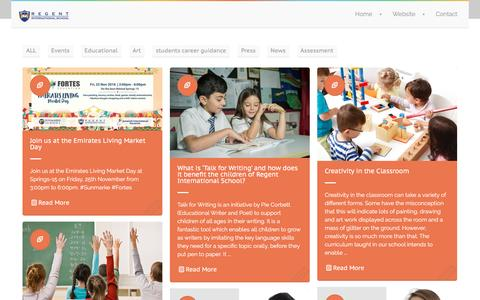 Screenshot of Blog risdubai.com - Regent International School - Dubai | - captured Nov. 30, 2016