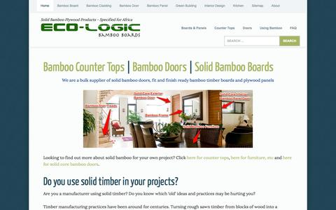 Screenshot of Home Page About Page oriental-bamboo.co.za - Bamboo Products South Africa - Bamboo Boards, Bamboo Counter Tops, Bamboo Plywood - captured Sept. 30, 2014