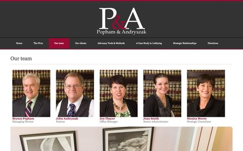 Screenshot of Team Page papalaw.com - Popham & Andryszak, P.A.  » Our team - captured Oct. 3, 2014