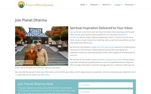 Screenshot of Signup Page planetdharma.com - Sign Up - Planet Dharma - captured Nov. 5, 2018