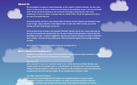 Screenshot of About Page playsquare.tv - PlaySquare - captured Sept. 13, 2014
