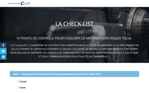Screenshot of Landing Page cegid.com - Check-list loi anti-fraude TVA - captured Oct. 4, 2017