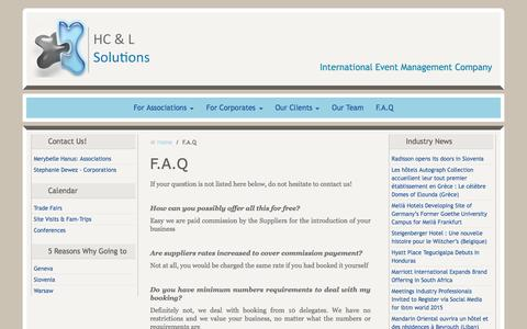 Screenshot of FAQ Page hclsolutions.be - FAQ about HC&L Solutions Services - captured Dec. 5, 2015