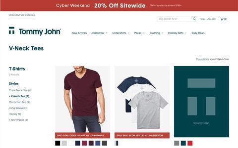 Shop Men's V-Neck T-Shirts Online | Tommy John