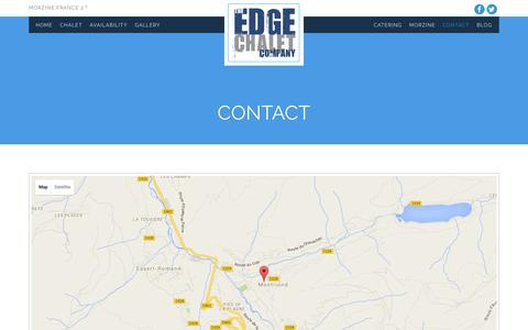 Screenshot of Contact Page theedgemorzine.com - CONTACT | The Edge Catered Ski Chalet Morzine - captured Feb. 18, 2016