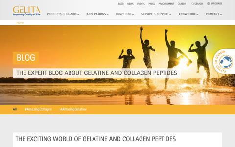 Screenshot of Blog gelita.com - Blog | GELITA - captured July 16, 2018