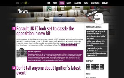 Screenshot of Press Page ignitiononline.com - Ignition - News and blogIgnition - captured Feb. 10, 2016