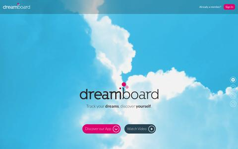 Screenshot of Login Page dreamboard.com - Dreamboard - Track your dreams, discover yourself - captured Oct. 6, 2014