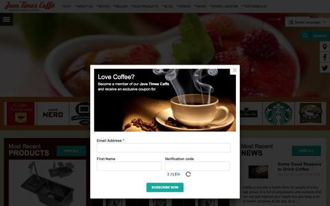 Screenshot of Home Page javatimescaffe.com - Want to Open a  Coffee  Shop? | Starting a Coffee Shop |  Java Times Caffe.com - captured Aug. 7, 2016