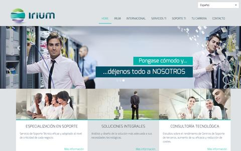 Screenshot of Home Page irium.es - Irium España - captured May 27, 2017