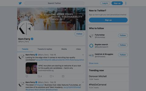 Tweets by Korn Ferry (@Korn_Ferry) – Twitter