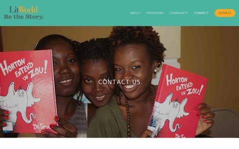 Screenshot of Contact Page litworld.org - Contact Us — LitWorld - captured Sept. 30, 2014