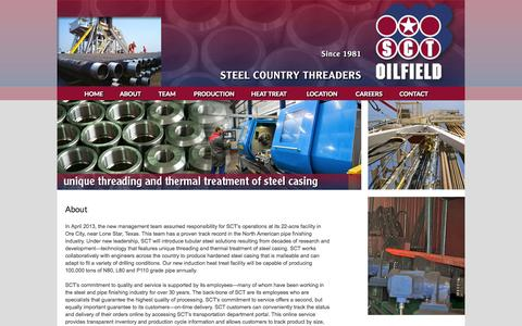 Screenshot of About Page sctoilfield.com - About | SCT Oil Field - captured Sept. 30, 2014