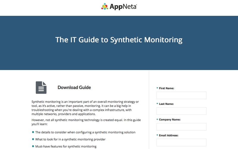 The IT Guide to Synthetic Monitoring | AppNeta