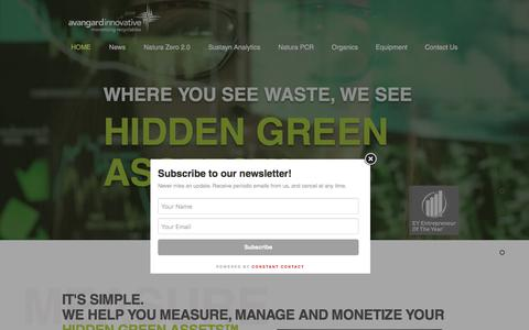 Screenshot of Home Page avaicg.com - Recycling and Waste Management | Houston | Avangard Innovative - captured July 23, 2019