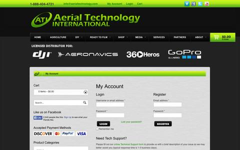 Screenshot of Login Page aerialtechnology.com - My Account - Aerial Technology International - captured Sept. 24, 2014