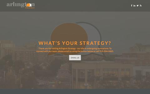 Screenshot of Home Page arlingtonstrategy.com - Arlington Strategy – business consulting on a mission - captured May 30, 2017