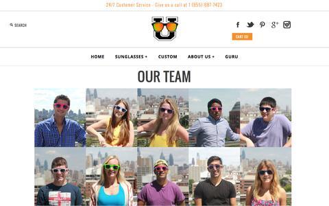 Screenshot of Team Page glass-u.com - Our Team - captured Sept. 30, 2014