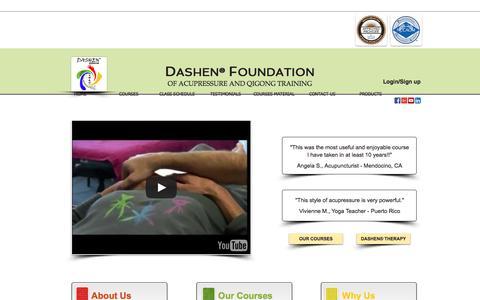 Screenshot of Home Page acupressuresite.com - Dashen Foundation - captured Feb. 8, 2016