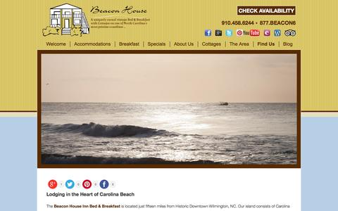 Screenshot of Contact Page Maps & Directions Page beaconhouseinnb-b.com - Bed and Breakfast Lodging near Downtown Wilmington NC - captured Oct. 5, 2014