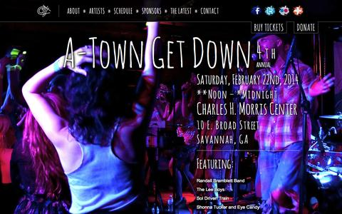 Screenshot of Home Page a-towngetdown.com - The 4th Annual A-Town Get Down 2014   February 22, 2014 - captured Sept. 30, 2014