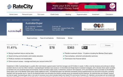 AustralianSuper | Superannuation | RateCity.com.au