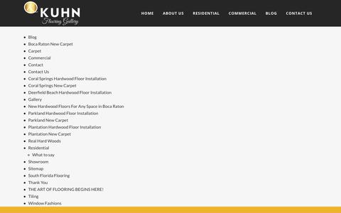 Screenshot of Site Map Page kuhnflooring.com - Sitemap - Kuhn Flooring - captured Dec. 20, 2018