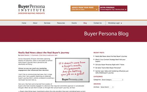 Screenshot of Blog buyerpersona.com - Adele's Blog - captured Oct. 11, 2017
