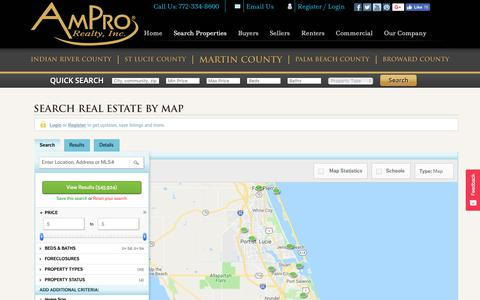 Screenshot of Login Page amprorealty.com - Search for Treasure Coast Real Estate by Map - captured Nov. 12, 2018