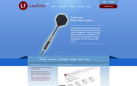 Screenshot of Home Page lawfolio.com - LawFolio - captured Oct. 2, 2014