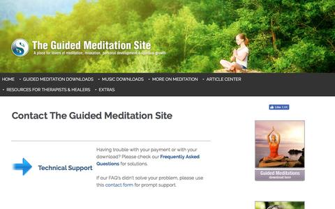 Screenshot of Contact Page the-guided-meditation-site.com - Contact - captured Oct. 30, 2017