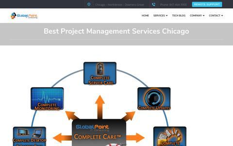 Screenshot of Services Page globalpointllc.com - Best Project Management Services Chicago - captured Nov. 5, 2018