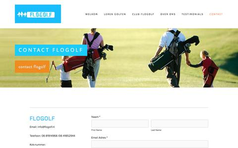 Screenshot of Contact Page flogolf.nl - Contact Flogolf — Flogolf - captured June 6, 2017