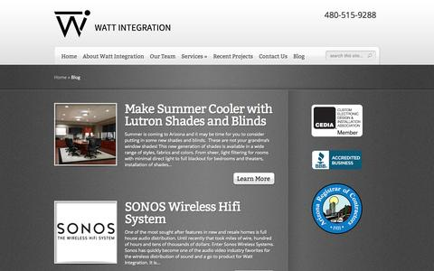 Screenshot of Blog wattintegration.com - Blog Archives - Watt Integration, LLC - captured Oct. 27, 2014
