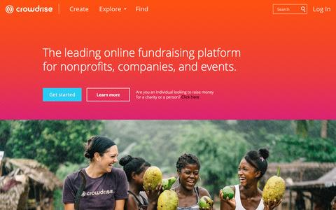 Fundraising Website - Raise Money Online For Causes & Charities - CrowdRise