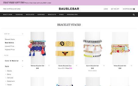 Bracelet Stacks   BaubleBar