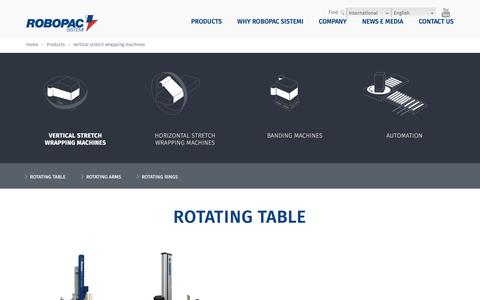 Screenshot of Products Page robopacsistemi.com - Vertical stretch wrapping machines - Stretch Wrapping Machines - Robopac Sistemi - captured Jan. 6, 2017