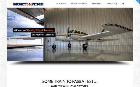 Screenshot of Home Page north-aire.com - North-Aire Prescott Arizona Flight School, USA - captured Jan. 26, 2015