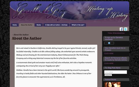 Screenshot of About Page genelladegrey.com - About the Author ~ - captured March 14, 2016