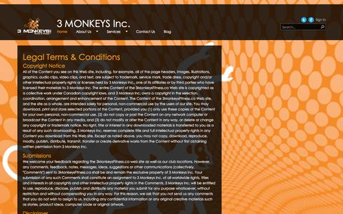 Screenshot of Terms Page 3monkeysfitness.ca - Legal - captured Oct. 27, 2014